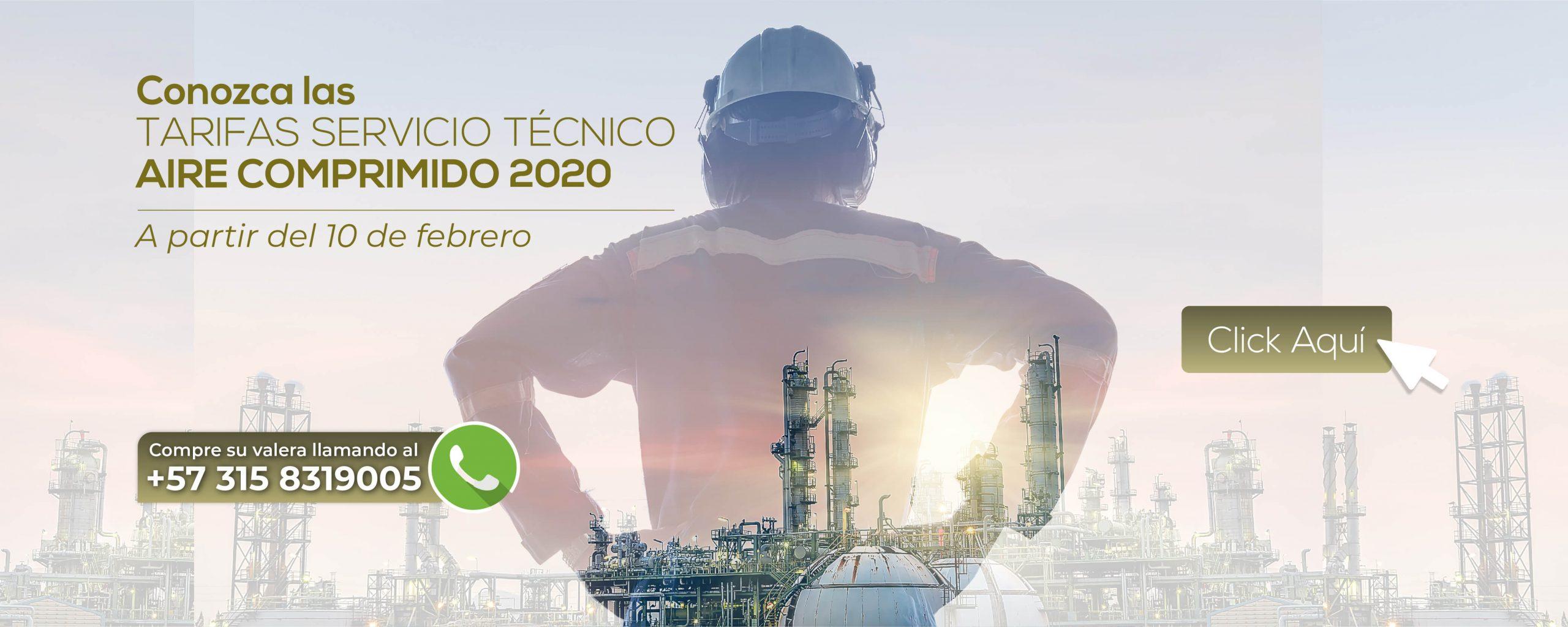 tarifas servicio tecnico aire comprimido 2020