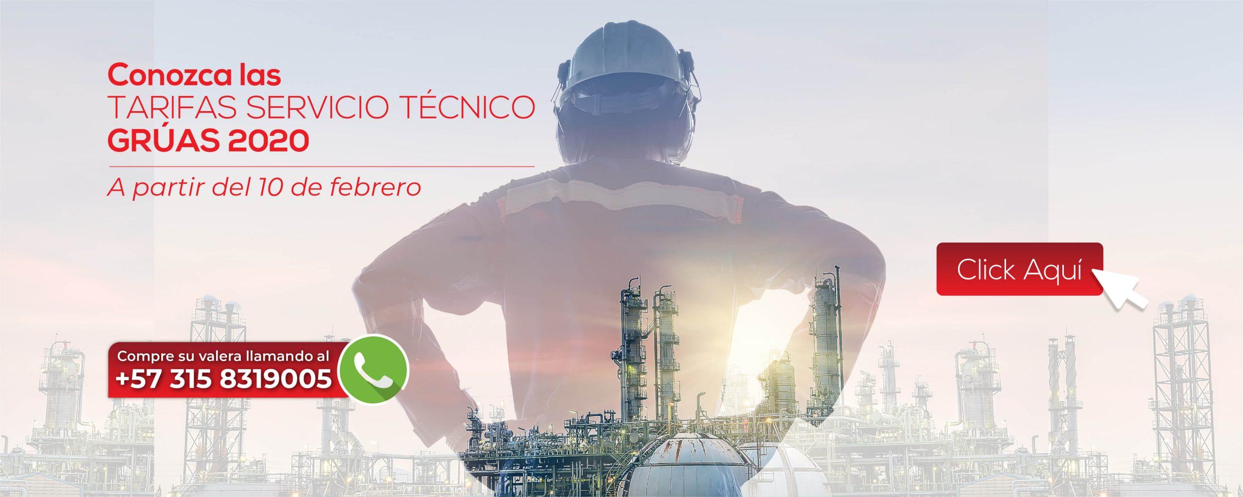 tarifas servicio tecnico gruas 2020
