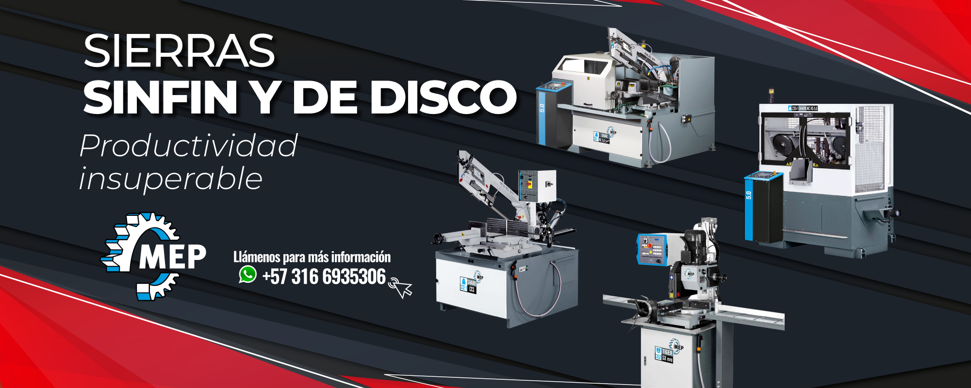 ofertas sierras de disco y de cinta imocom